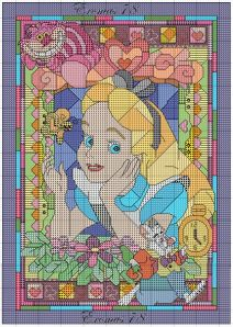 alice cross stitch