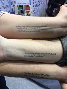 Alice in Wonderland Quote Temporary Tattoos