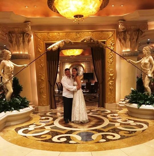 bride & groom ceasers